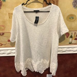Lane Bryant sweater shirt eyelet detail